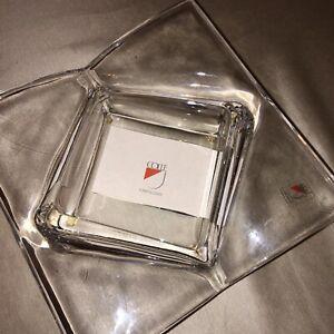 Posacenere In Cristallo Colle Centrotavola Ciotola Svuotatasche