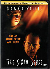 THE SIXTH SENSE Movie on a DVD of SUPERNATURAL Powers THRILLER with BRUCE WILLIS