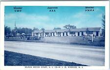 RIVERSIDE,  NJ  New Jersey  DELRAN MOTOR COURT    c1940s   Roadside Postcard
