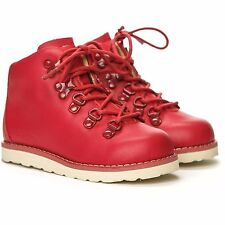 AKID Jasper Red Leather Hi Top Boots size 3 Infant - Brand New in Box