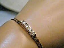 """Vintage Herringbone Rhinestone Bracelet, 7"""", 4mm wide, Korea"""
