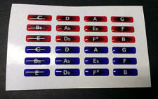 Andrew Zajac Stout Red and Blue Bubble Harmonica Key Labels