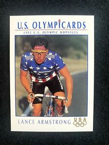 LANCE ARMSTRONG 1992 Impel USA OLYMPICARDS Cycling Rc ROOKIE #31