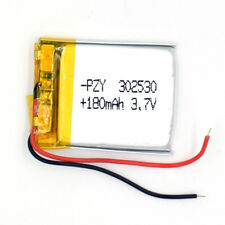 10pcs 3.7V 180mAh Rechargeable Battery 302530 Li-Polymer Li Po for GPS Bluetooth