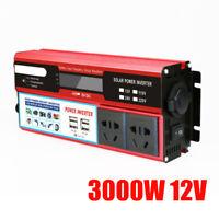 DC12V/24V 220V 3000/5000/6000W LED Digital Display Onduleur Convertisseur 4 USB