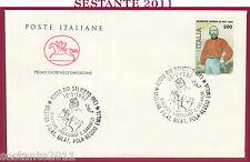 ITALIA FDC CAVALLINO FILATELICA POLA R. EMILIA GARIBALDI  1987 RIO SALICETO Y142