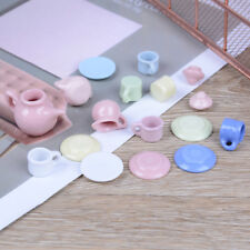 1:12 Dollhouse mini furniture accessories colorful ceramic teapot 15pcs/set Fad