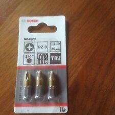 Bosch 2607001595 Screwdriver Bits Pozidriv PZ3 25mm (3 Pack)