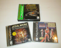 3 pc Star Wars Game lot for Ps1  Discs in  Very Good Condition Free Ship
