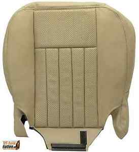 2005-2006 Lincoln Navigator Driver Bottom Perforated Leather Seat Cover Tan