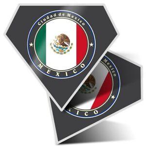 2 x Diamond Stickers 10 cm  - Ciudad De México Mexico City  #9234