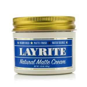 NEW Layrite Natural Matte Cream (Medium Hold, Matte Finish, Water Soluble) 120g