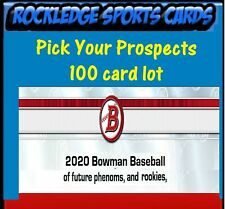 2020 Bowman Prospect 100 Card Player Lot (Pick Your Prospects Player Lot)
