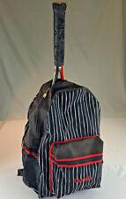 Black & White Pinstripe Tennis Backpack & Accesory Purse (by Boca Tennis)