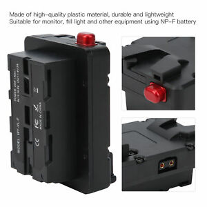 NP-F-Adapter montieren V-Lock D-Tap-Batterieadapter für Monitorfüllleuchte 14,8V