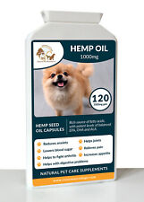 120 Hemp Seed Oil For Dogs, Hempseed Oil Dog Supplement Omega 3 & 6