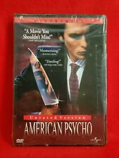 American Psycho Unrated Version 2000 Widescreen Dvd New