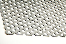 Perforated Sheet - Galvanised steel - 500mm X 1000mm - 2mm thick with 5mm holes