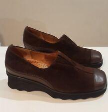 Women's Gabor Sport Brown Leather/Suede Low Heel Wedge Shoes UK 4.5