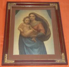 Sixtinische Madonna nach einem Gemälde von Raffaell 1512 Gottesmutter Jesuskind