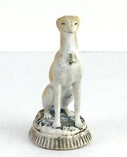 Antique Staffordshire Porcelain Figurine Greyhound Hound Whippet Pottery #873