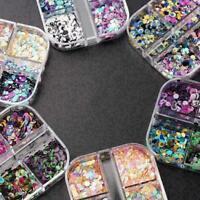 ROUND GLITTER PAILLETTE DOT SHAPE Mini Sequins Confetti Art 3D B Loose Nail L7I0
