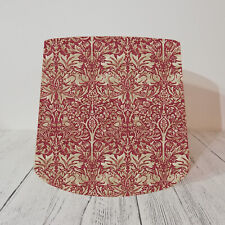 Empire Lampshade William Morris Brer Rabbit Red Vintage Style Lamp Tapered Light