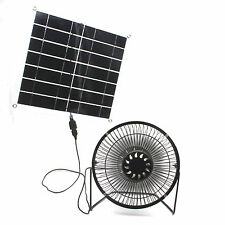 Solar fan Portable 10w USB  6 inch fan  powered  for Home Outdoor Cooling office