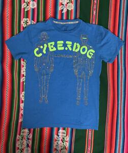 Vintage Y2K CYBERDOG  London T Shirt Robots Cyberdog Size L