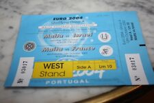 TICKET )) MALTA V FRANCE & MALTA V ISRAEL 2002