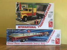 AMT 1/25 International Transtar 4300 and AMT Extendable Flatbed Trailer Sealed!