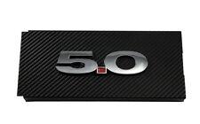 2011-2014 Mustang GT Carbon Fiber Engine Fuse Box Cover w/ Chrome 5.0 Emblem
