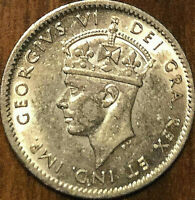 1943 NEWFOUNDLAND SILVER 5 CENTS - Uncirculated
