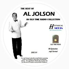 BEST OF AL JOLSON - 86 Shows - Old Time Radio In MP3 Format OTR On 3 CDs