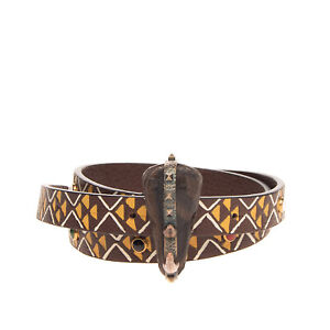 RRP€525 VALENTINO GARAVANI Leather Waist Belt Size 70/28 Rockstuds Made in Italy