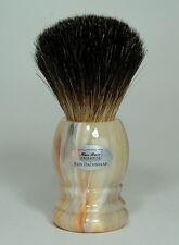 HANS BAIER Rasierpinsel Dachshaar shaving brush badger 20 mm Hornfarben Germany