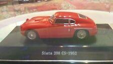 Modellino Rosso  Siata 208 CS-1952 Scala 1 / 43 + TECA