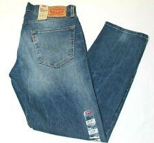 Men's Levi's 502 Regular Fit Tapered Faded Medium Blue Stretch Jeans # 295070003