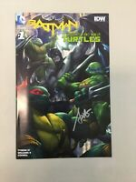 Batman Tmnt #1 Teenage Mutant Ninja Turtles Variant Artgerm  Signed Rare NM