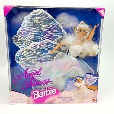 Angel Magical Princess Barbie Doll 1996 Mattel Blonde Glitter Wings Make Her Fly