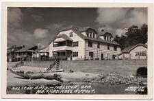 Real Photo Postcard Nelscott Beach Front Apartments in Nelscott, Oregon~107755
