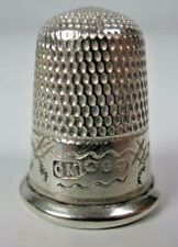 More details for antique 1918 hallmarked silver thimble, birmingham, charles may