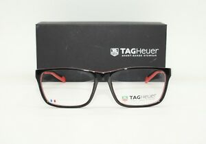 Brand New Large Mens Tag Heuer Glasses TH552 002 Tag Heuer Case + Free SV Lenses