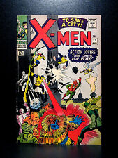 COMICS: Marvel: X-men #23 (1966, Vol 1), 1st Prof X's mechanical legs app - RARE