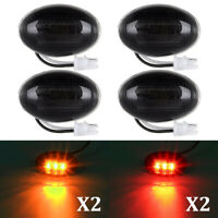 4x Smoke Side Fender Dually Bed Marker LED Lights for 1999-2010 Ford F350 F450