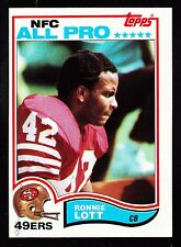 1982 TOPPS #486 RONNIE LOTT 49ers ROOKIE