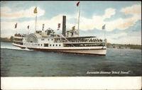 Excursion Steamboat Steamer Block Island c1910 Postcard