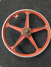 "Old School BMX USED 20"" RED LESTER WHEEL REAR COASTER BRAKE MAG RIM mongoose"