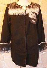 Manteau neuf noir marque Olivier Philips taille 44 étiqueté à 209€ avec laine