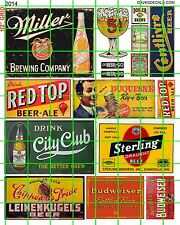 2014 DAVE'S DECALS VINTAGE SIGNS MIXED BEER RED TOP CITY CLUB STERLING MlLLER